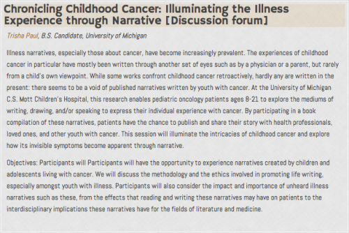 Chronicling Childhood Cancer: Illuminating the Illness Experience through Narrative
