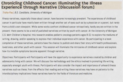 Chronicling Childhood Cancer: Illuminating the Illness Experience through Narrative