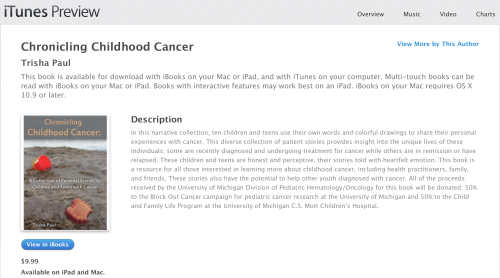 Chronicling Childhood Cancer on iTunes